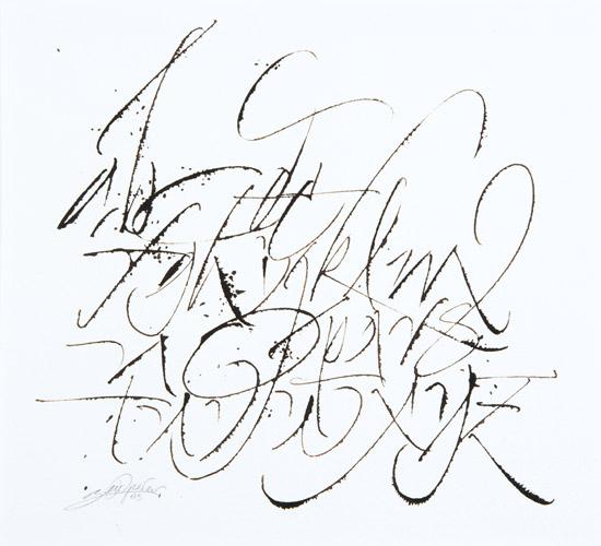 Calligraphie Latine Contemporaine Abecedaires Calligraphies Gestuelle Ecriture Mots Poesie Proverbes