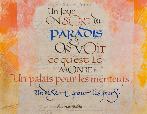 calligraphie contemporaine latine dessin ecriture